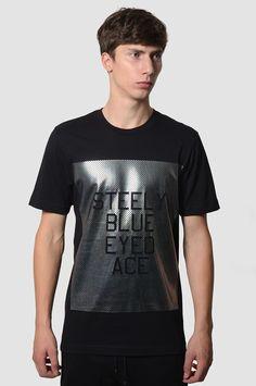 Y-3 YOHJI YAMAMOTO Foil Slogan Black T-shirt