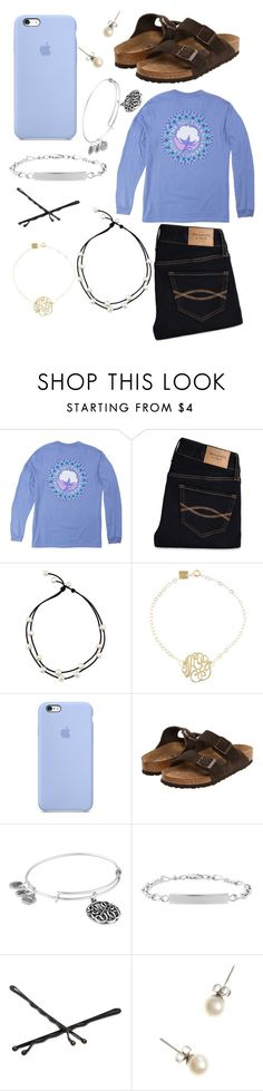 """""""Untitled #44"""" by kaoriroberts ❤ liked on Polyvore featuring Abercrombie & Fitch, Ginette NY, Birkenstock, Alex and Ani, Goody and J.Crew"""