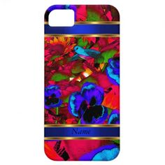 Abstract art birds and flowers by zizzago iPhone 5 cases by zizzago.com