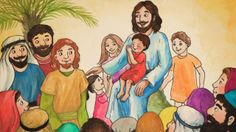 Nasta raamis - Jeesus siunaa lapsia