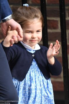 A wave from Princess Charlotte, who celebrates her third birthday on the 2nd of May.