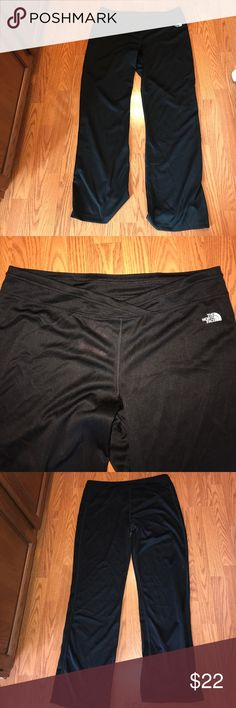 """The North Face Kynnie Black Pants NWT 100% polyester. Black flare workout pants 33"""" inseam. New with tags. Inside waistband pocket The North Face Pants Track Pants & Joggers"""