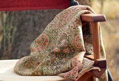 antique paisley throw