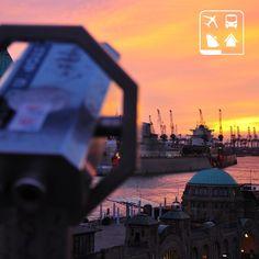 O encantador pôr do sol de Hamburgo, a segunda maior cidade da Alemanha. #AmoViajar #ClubePeloMundo #ClubeTurismo