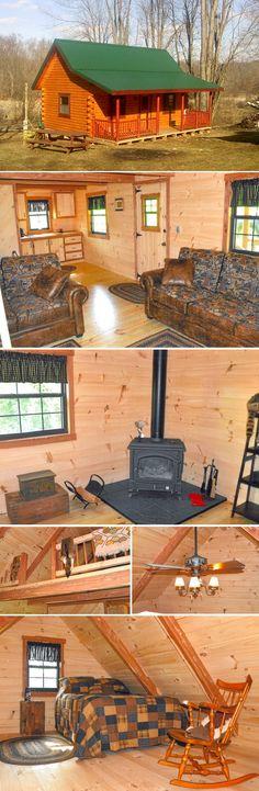A peek inside a 14x24 Pioneer Deluxe Cabin to Minerva, Ohio