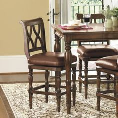 """Montgomery Counter Stool - $389 -too spendy but right idea. 25"""" seat height."""