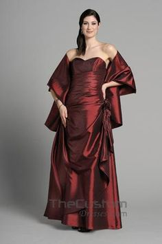 A-line Sweetheart Floor-length Taffeta Bridesmaid Dresses 14305314