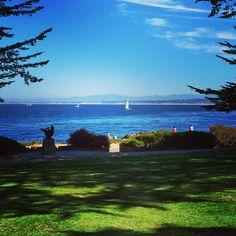 Sailing along Monterey Peninsula's coastline