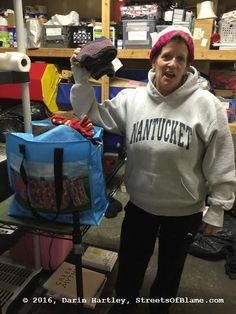 Kimberly - Mary's Place - I had just dropped off a donation of Starbucks cards and hand-knit items from the charity knitters at Churchmouse Yarns and Tea on Bainbridge Island. Bainbridge Island, Jansport Backpack, Yarns, Starbucks, Hand Knitting, Charity, Seattle, Backpacks, Tea