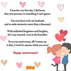 Happy One Month Anniversary Poems for Him | Cute Instagram ...