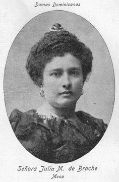 MOCA 1907 Señora Julia M. de Brache Moca , Republica Dominicana. 1907 Fuente : Imagen colaboracion dw Miguel Vargas - Cava Imagenes de Nuestra Historia.