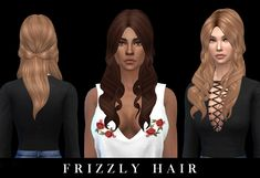 Leo 4 Sims: Frizzly hair recolored - Sims 4 Hairs - http://sims4hairs.com/leo-4-sims-frizzly-hair-recolored/