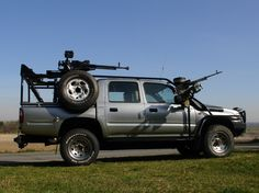 Armoured Toyota Hilux with extras...tough call on whether to put this in Survival or WANT. WANT wins.