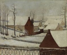 William Degouve de Nuncques, Winter in Brabant, 1888 Ascension Day, Kings Day, Boxing Day, Winter Is Coming, Winter Scenes, Night Skies, Art Deco, Museum, Clouds