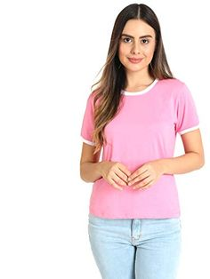 Vividartsy Women's T-Shirt Vividartsy Sporty Look, Neck Pattern, Daily Look, Casual T Shirts, High Waist Jeans, V Neck, T Shirts For Women, Stuff To Buy, Tops