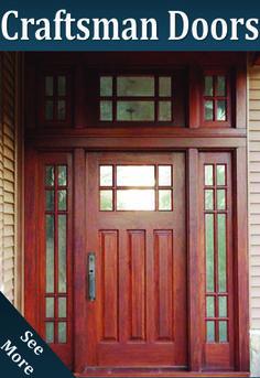 Site to buy craftsman doors to replace the interior french doors & the storm doors on camp rd Exterior Patio Doors, Craftsman Decor, Craftsman Homes, Craftsman Style, Glass Pantry Door, Glass Doors, Internal French Doors, Double Doors, Solid Oak Doors