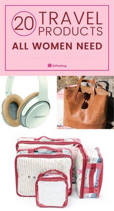 Travel Essentials for Women: Products You Need Hey ladies. If you're struggling to find a great travel essentials checklist, we've got you covered. We put together a list of 20 travel must haves for women (including a sweet surprise tip). It includes A Carry On Essentials, Travel Essentials For Women, Travel Necessities, Packing Tips For Travel, Travel Hacks, Packing Hacks, Vacation Packing, Travel Deals, Travel Destinations