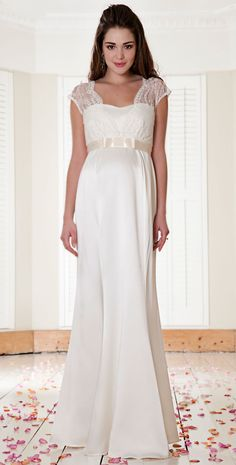 Georgia Maternity Gown (Vintage Ivory) by Tiffany Rose