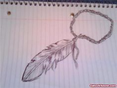 Feather Rosary Ankle Tattoo Design | Tattoo Viewer.com