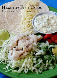 This healthy fish taco platter is easy to put together, full of fresh veggies and totally delicious!  Everybody loves this easy and flavorful dinner.