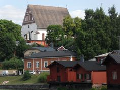 Porvoo and old storage buildings Storage Buildings, Built In Storage, Finland, Cabin, Mansions, House Styles, Home Decor, Decoration Home, Manor Houses