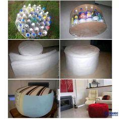 Puf reciclables (definitivamente hay que hacer de estos) me encantó!