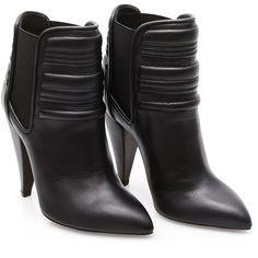 Iró - Klara høj læderstøvlet med vatteret detalje - YouHeShe