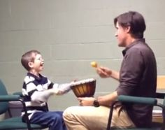 This Music Therapy video with a child with Williams Syndrome illustrates the following: Approach Hyperacusis (high sensitivity to sound) with sensitivity and patience Use humor to create positive associations with loud sounds Let the child control how loud or soft the music is Use instruments to make this activity fun and motivating For more inform...