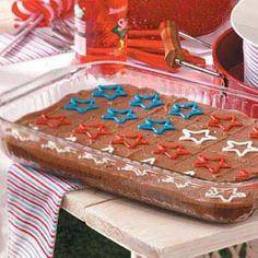 Fudgy Patriotic Brownies Recipe