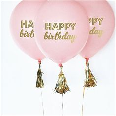 Pink Balloons 1 Balloon First Birthday Balloons Pink Birthday Balloons Pink and Gold First Birthday Decorations SET of 3 Balloon 1st Birthday Party Favors, First Birthday Balloons, Pink Happy Birthday, Pink And Gold Birthday Party, Gold First Birthday, First Birthday Decorations, Happy Birthday Quotes, 1st Birthday Girls, First Birthday Parties