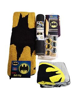 Batman Bathroom Set Shower Curtain Hooks Bath Rug Bath Towel and Bath Tub Mat Shower Curtain Hooks, Bathroom Shower Curtains, Bathroom Rugs, Bath Rugs, Shower Towel, Modern Bathroom, Bath Linens, Bath Towels, Batman Bathroom