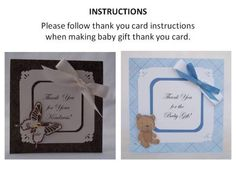 thank you for baby gift instructions