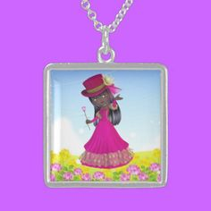 Sterling Silver Necklace African American Princess $154.75
