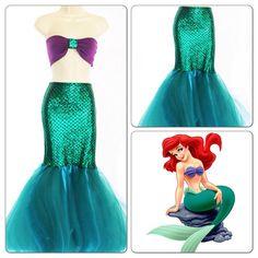Ariel Meerjungfrau Kostüm Karneval