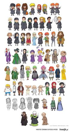 Ensemble de personnages Harry Potter