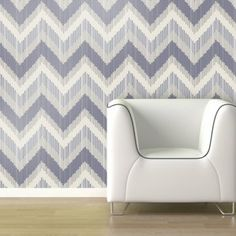 Glass Tile Zigzag Wallpaper - Lilac - Wall Decals at Hayneedle Self Adhesive Wallpaper, Wall Wallpaper, Pattern Paper, Fabric Patterns, Chevron Throw Pillows, Contemporary Wallpaper, Style Tile, Interiores Design, Zig Zag