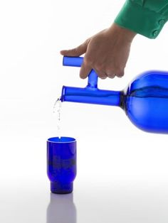 lanzavecchia+wai - home - decanters & pitchers - glasss hand blown glass decanter