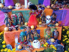 Dia de los Muertos altar at La Baguette in Chicago's Andersonville neighborhood