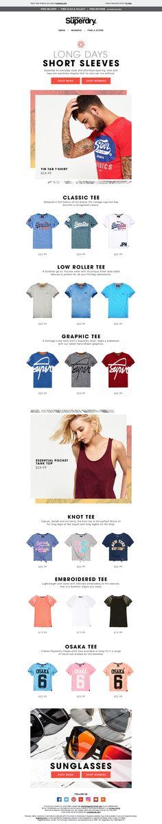 Superdry Tees Email / Newsletter Design