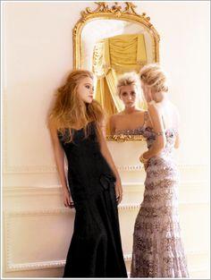 Mary-Kate & Ashley Olsen in Badgley Mischka Gowns