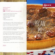 A great recipe to help you celebrate #Thanksgiving Day - it's our yummy Neff recipe for Pecan Pie!