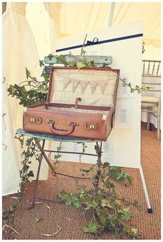 Thank you cards - vintage suitcase in Devon