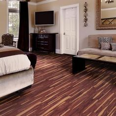 Allure - TrafficMaster Allure 6 in. x 36 in. African Wood Dark Resilient Vinyl Plank Floorng(24 sq. ft./case) - 57111 - Home Depot Canada