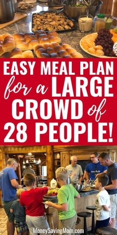 menuplanning mealplanning menuplan mealplan people large crowd feeds easy meal plan for 28 of a Easy Meal Plan For A Large Crowd of 28 People Easy meal plan for a large crowd of people Feeds You can find Meals for a crowd and more on our website Vacation Meal Planning, Budget Meal Planning, Beach Vacation Meals, Vacations, Cooking For A Crowd, Food For A Crowd, Recipes For A Crowd, Meals For A Crowd, Tater Tots