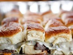 Hot Hawaiian Beef Sandwiches Recipe from Food Network, make in large metal throw-away tray