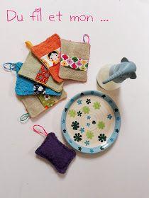 Du fil et mon...: TuTo DIY : Eponge ou gant de vaisselle, douche ... Dyi, Furoshiki, Diy Couture, Textiles, Crochet Hats, Sewing, Justine, Zero Waste, Simple Sewing Projects