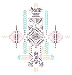 Tribal vintage ethnic background vector by transia on VectorStock®