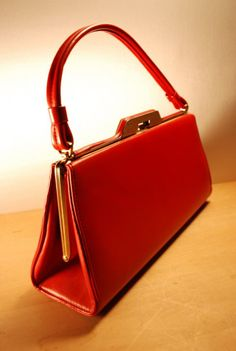 vintage red purse $35