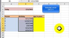 Calcularea varstei in ani cu Excel 2007 Make It Yourself, Education, Calculus, Onderwijs, Learning