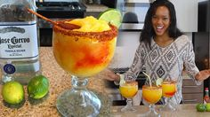 Refreshing drink for the summer w/ a bit of tequila couldn't get any better Chamoy Margarita Recipe, Margarita Recipes, Drink Recipes, Party Drinks, Cocktail Drinks, Fun Drinks, Cocktails, Tipsy Bartender, Bartender Recipes